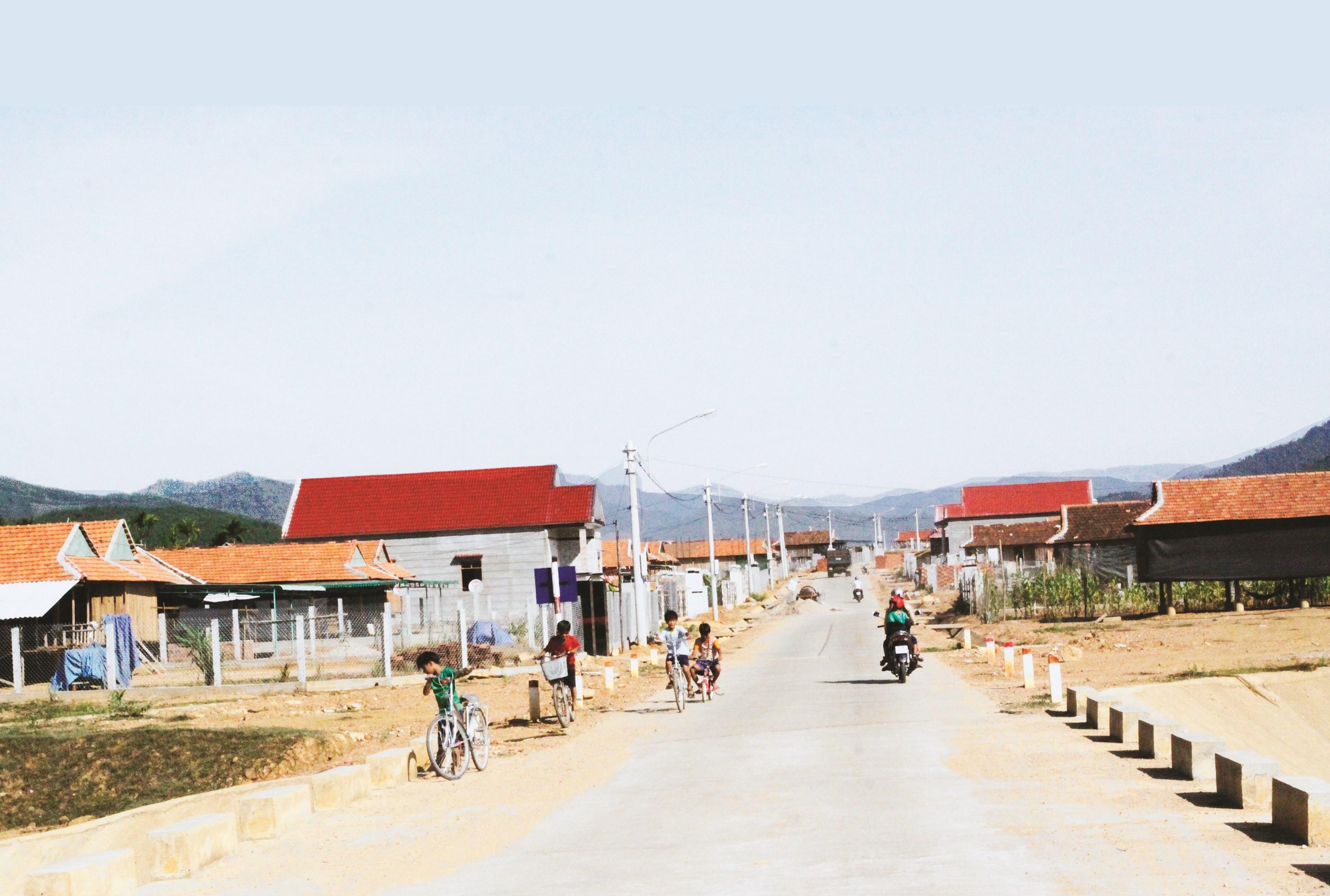 Một góc khu tái định cư An Dũng
