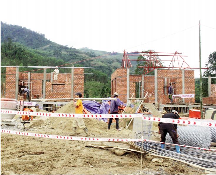 Các cấp chính quyền đang nỗ lực xây dựng khu TĐC mới cho người dân Trà Leng