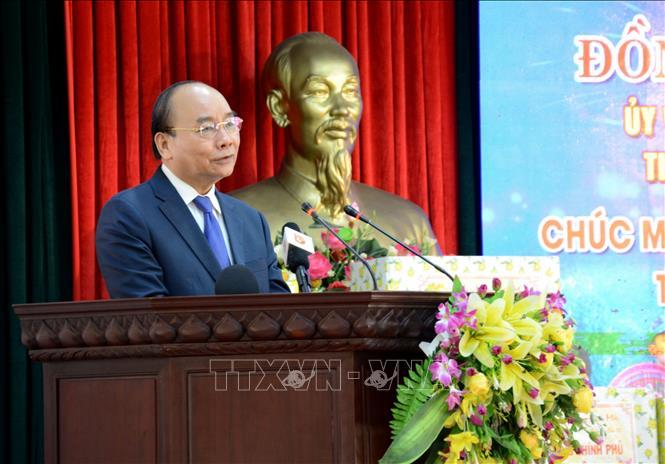 Thủ tướng Nguyễn Xuân Phúc phát biểu tại Bộ Chỉ huy Bộ đội Biên phòng thành phố Đà Nẵng.