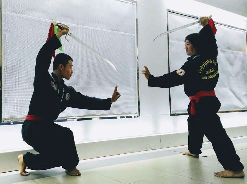 Các võ sinh đang tập luyện