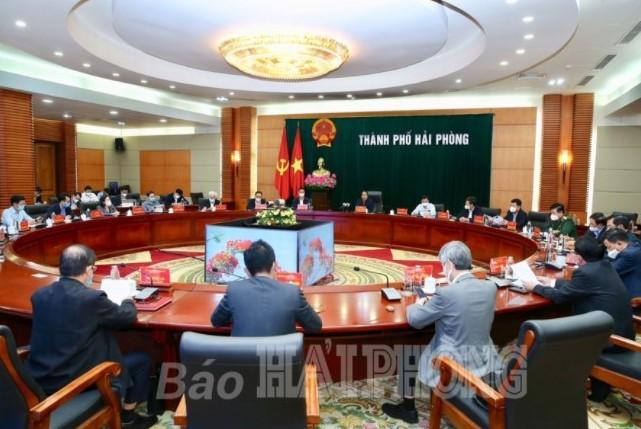 Ban Thường vụ Thành ủy Hải Phòng họp khẩn triển khai các biện pháp phòng chống dịch.
