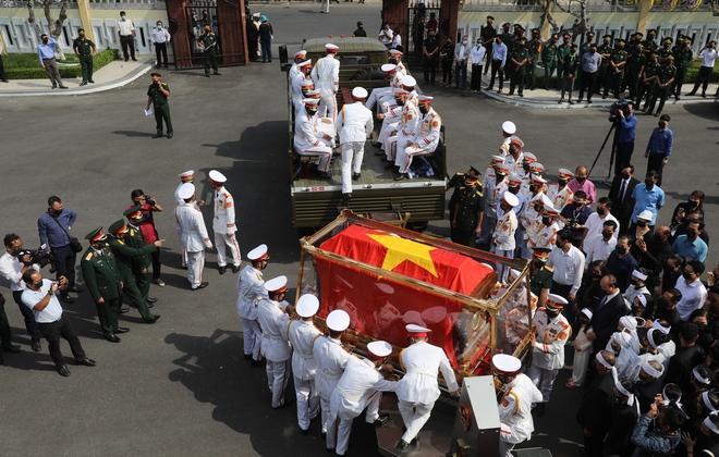 Lễ di quan đồng chí Trương Vĩnh Trọng. - Ảnh: VNE