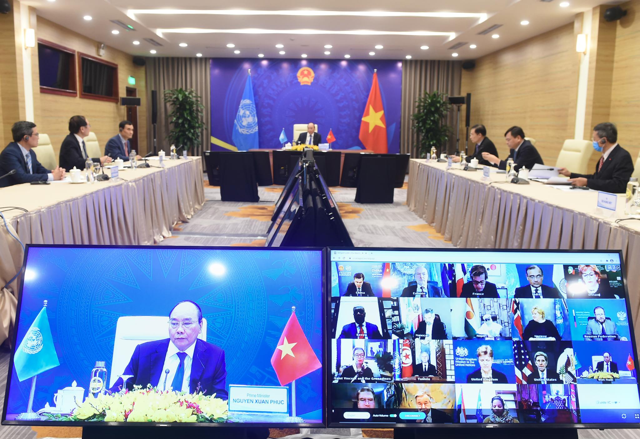 Lần đầu tiên người đứng đầu Chính phủ Việt Nam tham dự và phát biểu tại một sự kiện trong khuôn khổ HĐBA LHQ. Ảnh: VGP/Quang Hiếu