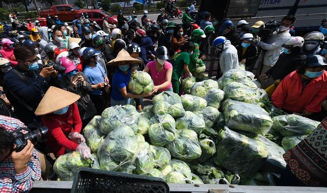 """Một điểm """"giải cứu"""" nông sản Hải Dương trên đường phố Hà Nội."""