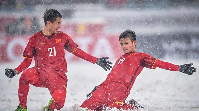 Cầu thủ Quang Hải và Đình trọng đã thi đấu xuất sắc tại giải đấu VCK U23 châu Á vào năm 2018
