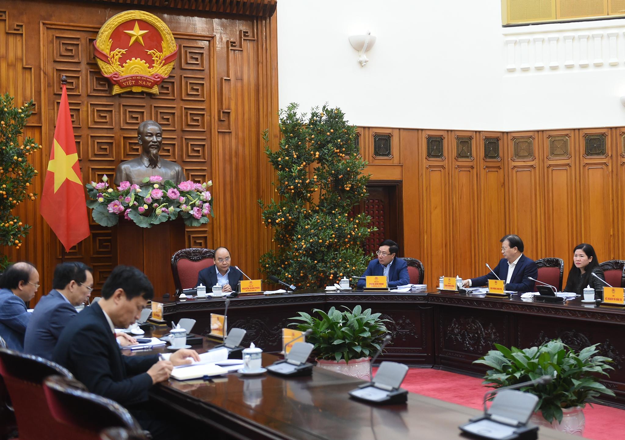 Toàn cảnh Phiên họp Thường trực Chính phủ ngày 3/3. Ảnh: VGP/Quang Hiếu