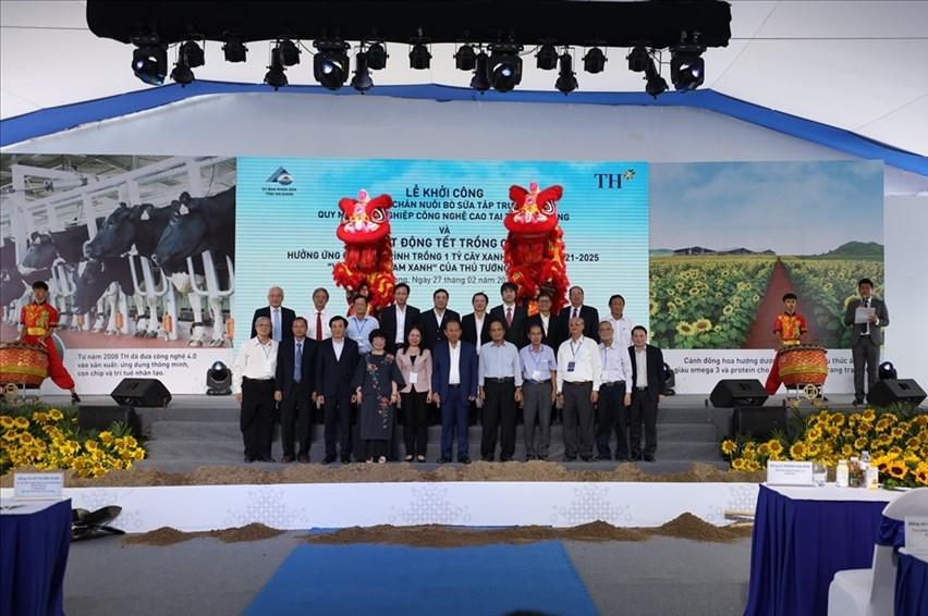 : Dự án chăn nuôi bò sữa lớn nhất khu vực Đồng bằng sông Cửu Long đã được khởi công vào sáng 27/2/2021