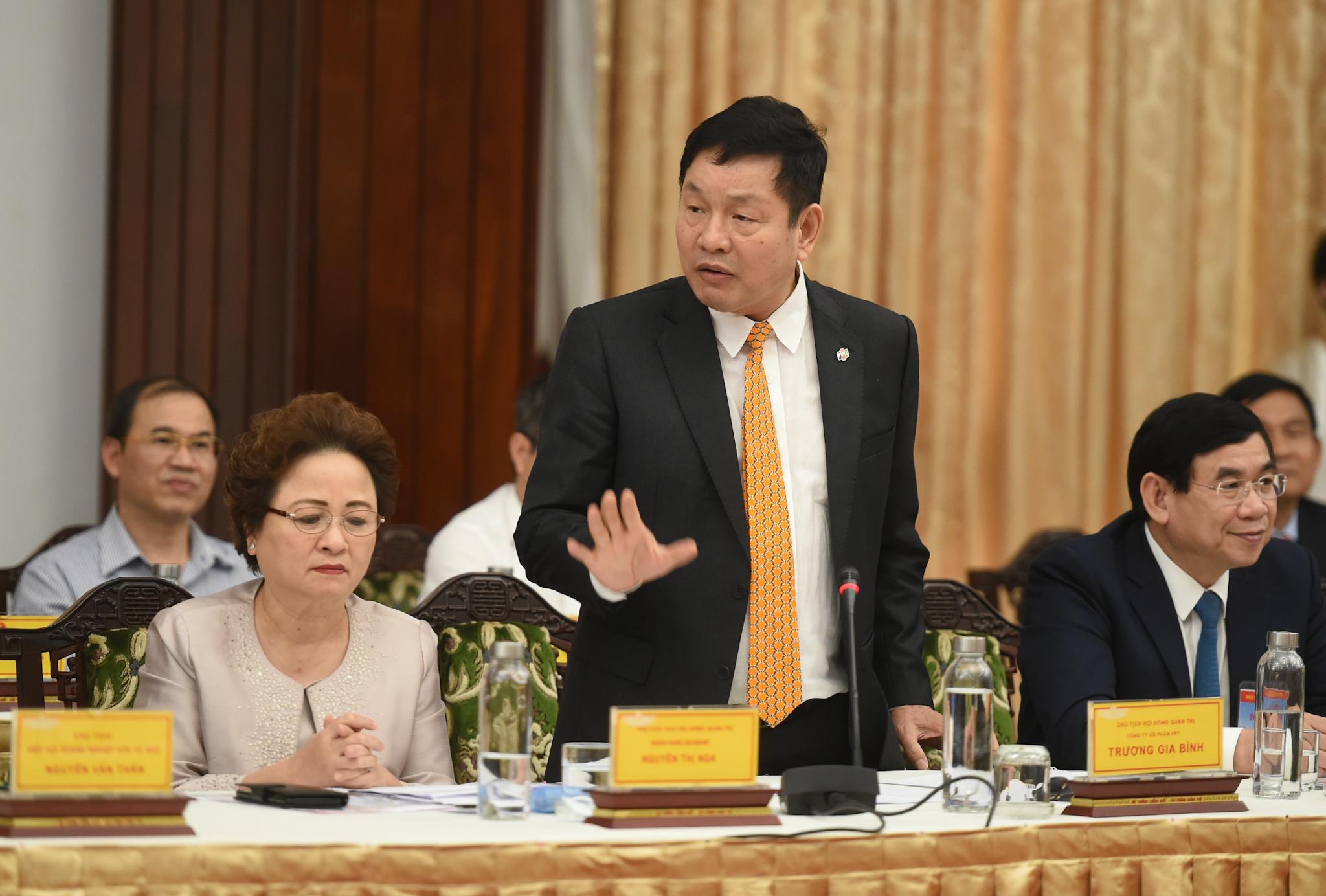 Ông Trương Gia Bình, Trưởng ban nghiên cứu phát triển kinh tế tư nhân, Chủ tịch tập đoàn FPT. Ảnh: VGP/Quang Hiếu