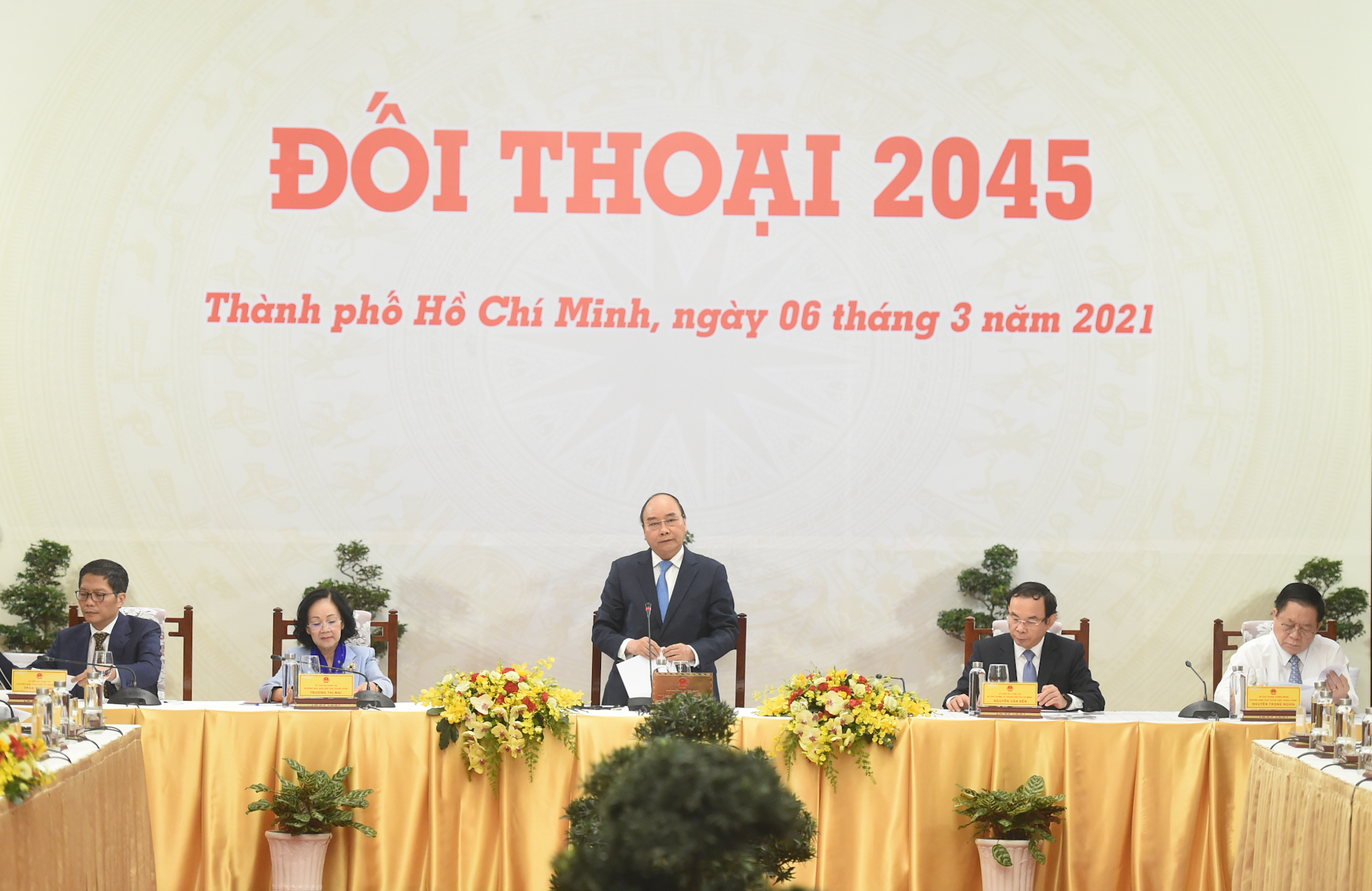 Đối thoại 2045 diễn ra tại Hội trường Thống Nhất, TPHCM. Ảnh: VGP/Quang Hiếu