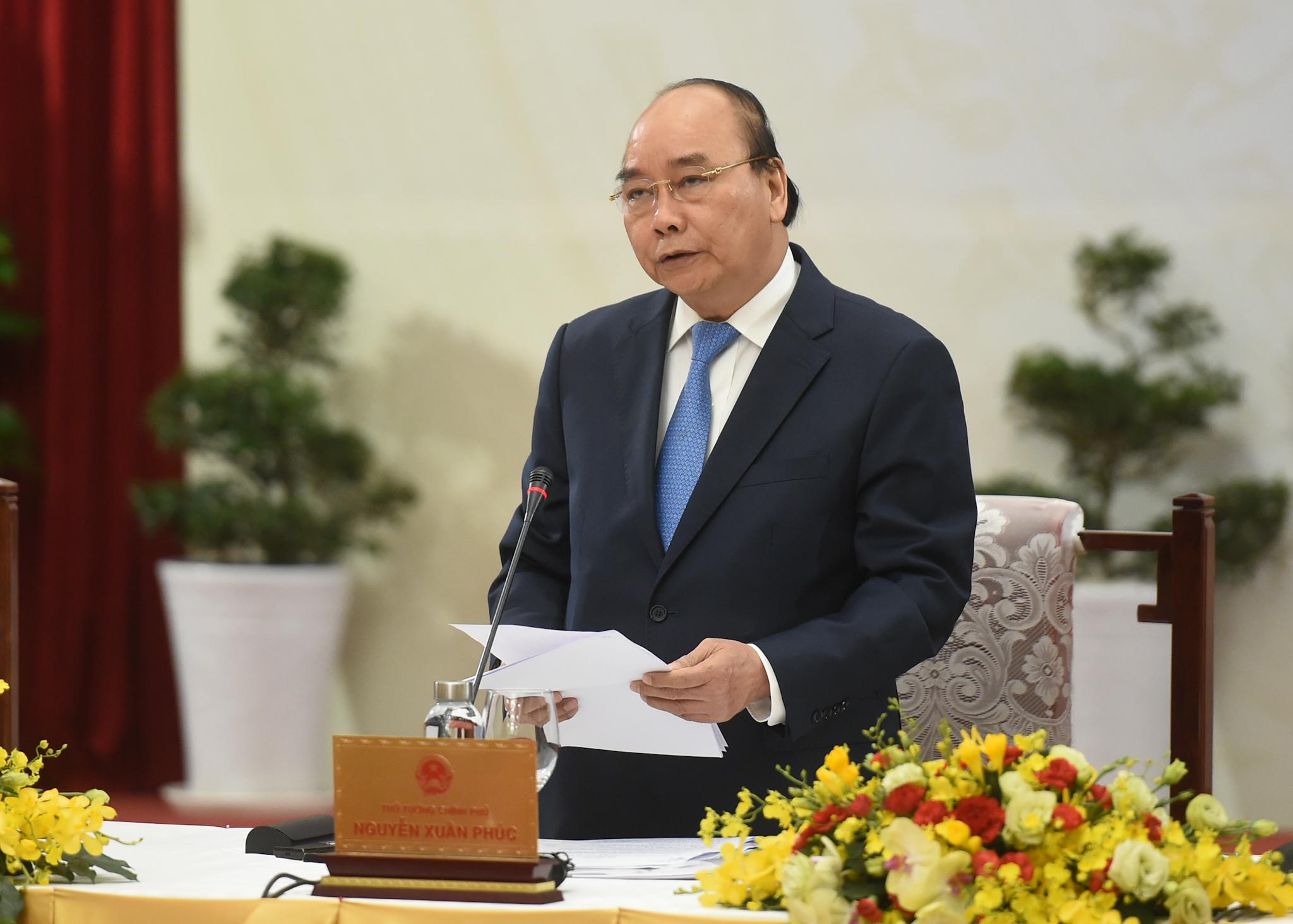 Thủ tướng phát biểu khai mạc Đối thoại. Ảnh: VGP/Quang Hiếu