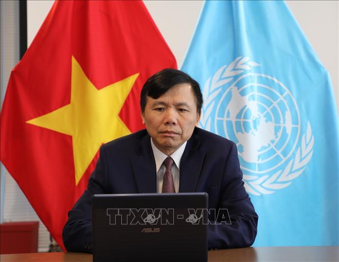 Đại sứ Đặng Đình Quý, Trưởng Phái đoàn thường trực Việt Nam tại Liên hợp quốc. Ảnh: TTXVN phát