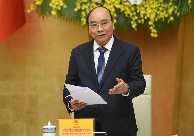 Thủ tướng Nguyễn Xuân Phúc Phát biểu tại phiên họp,