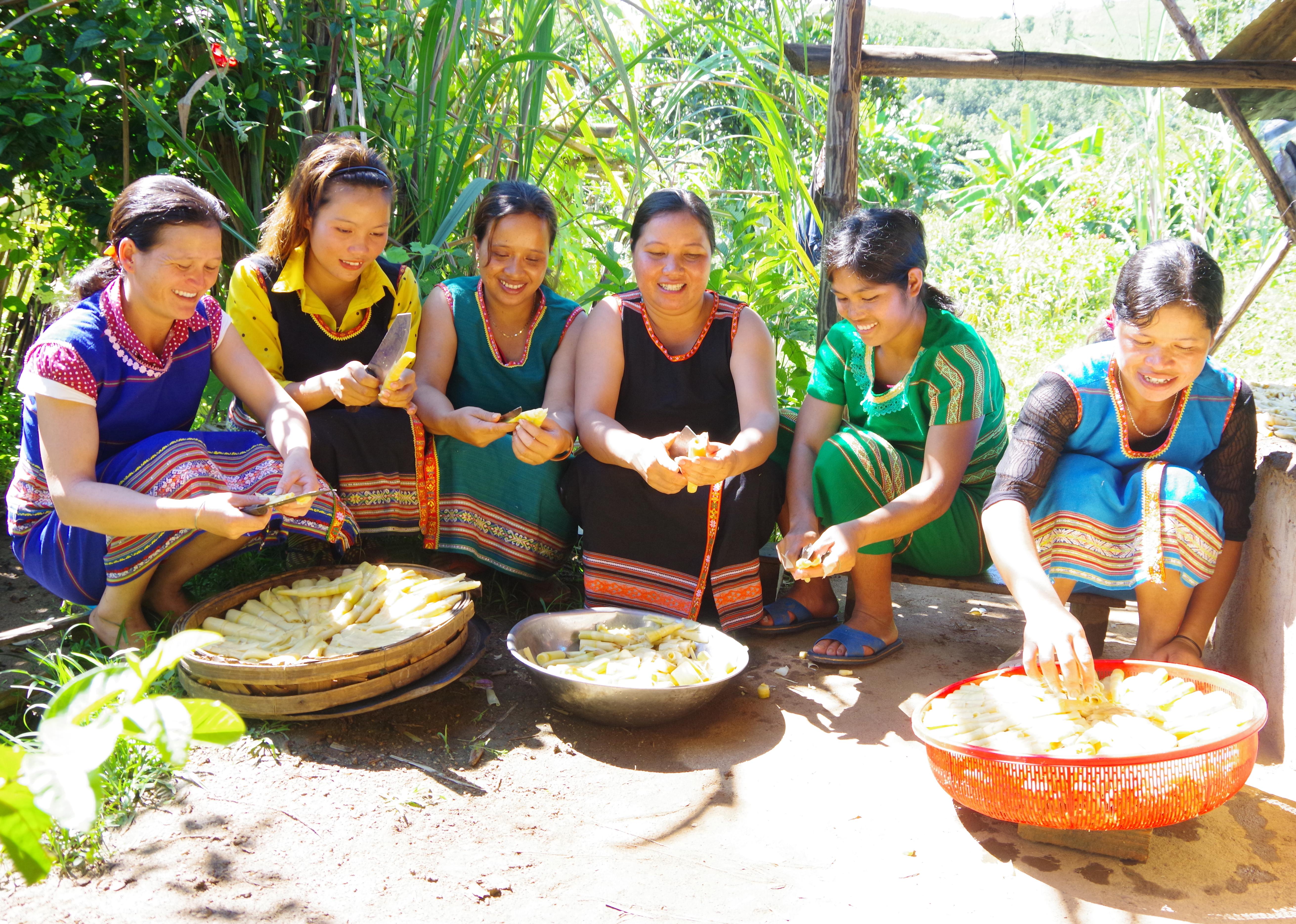 Sản phẩm măng khô từ mô hình lò sấy măng khô của Hội LHPN xã đã được chọn tham gia sản phẩm OCOP của tỉnh Kon Tum