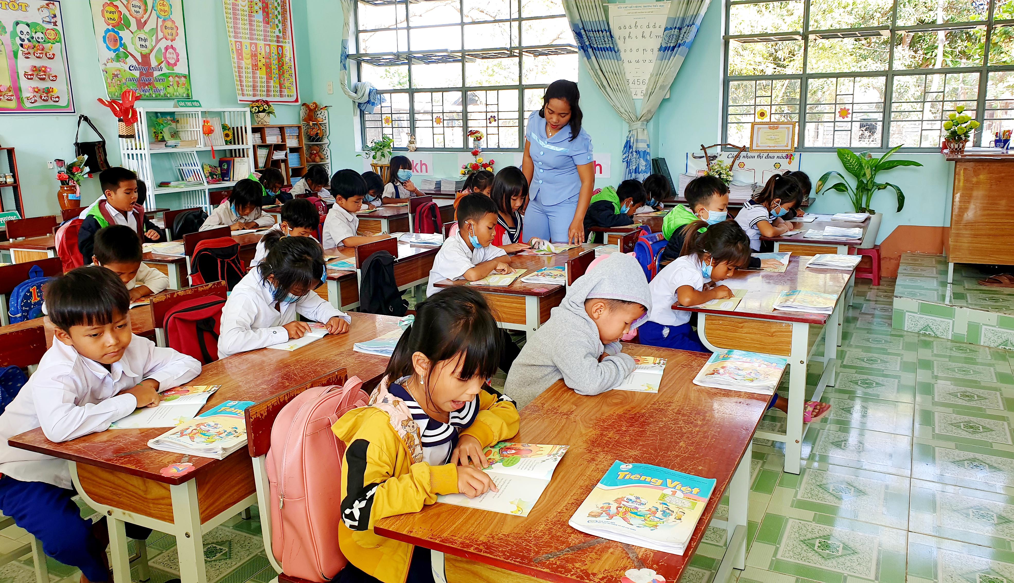 """Qua 5 năm triển khai thực hiện Đề án """"Tăng cường tiếng Việt cho học sinh mầm non, tiểu học vùng đồng bào DTTS trên địa bàn tỉnh Gia Lai"""" đã mang lại những kết quả tích cực."""