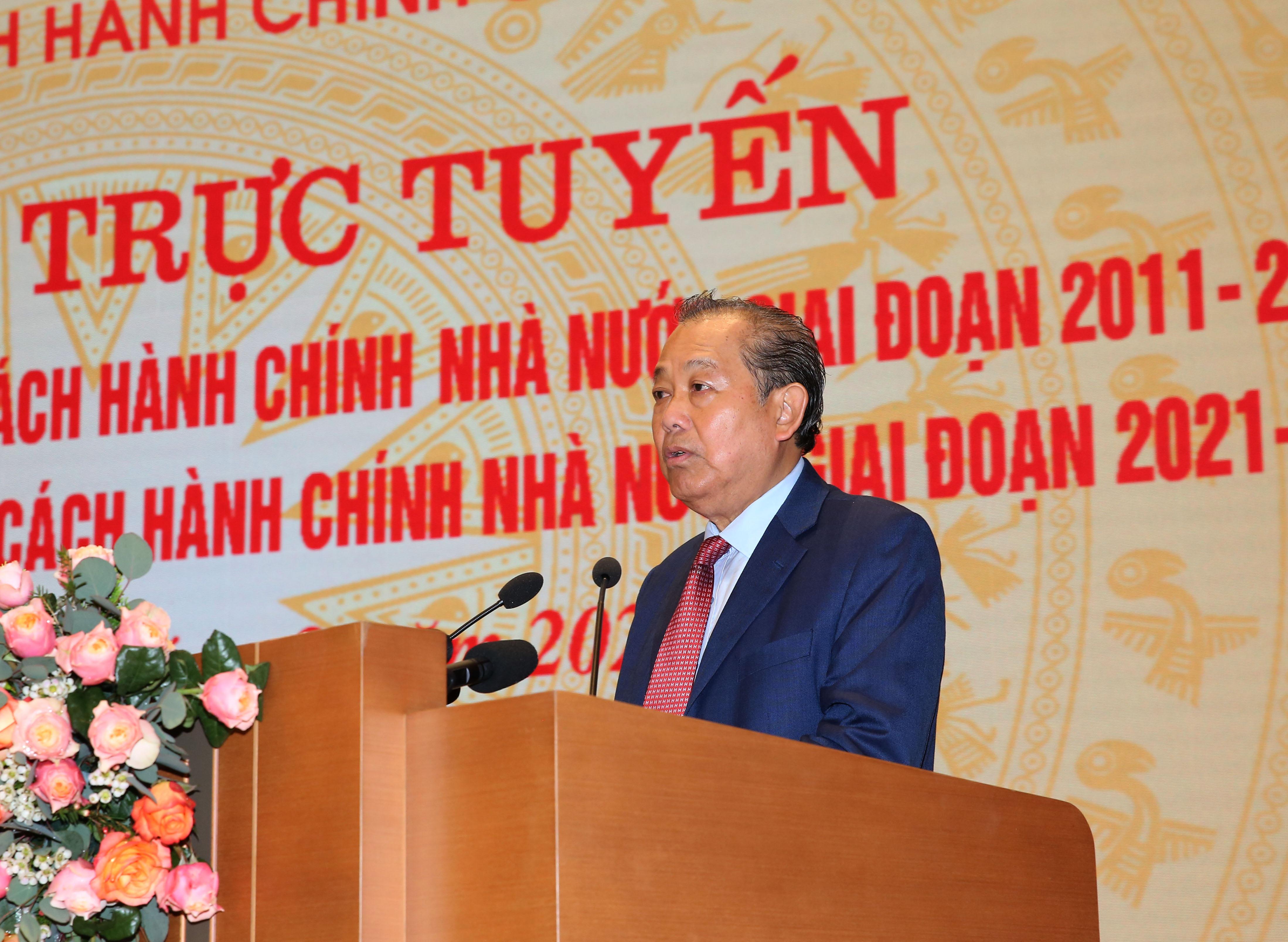 Phó Thủ tướng Thường trực Chính phủ Trương Hoà Bình phát biểu khai mạc Hội nghị. Ảnh: VGP/Lê Sơn