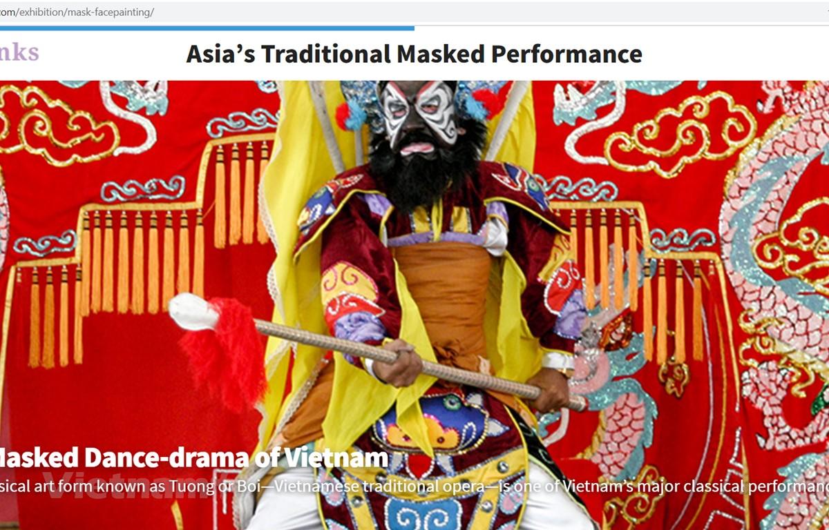 Nghệ thuật hát bội của Việt Nam được giới thiệu trên nền tảng ichLinks. (Ảnh chụp màn hình)