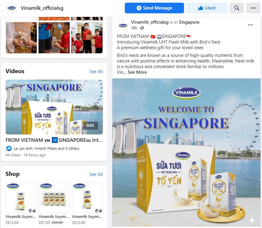 Sản phẩm được chính thức ra mắt tại trang Vinamilk_officialsg và thương mại điện tử sẽ là kênh bán hàng chủ yếu trong giai đoạn này