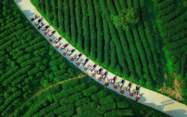 Du khách lưu lại khoảnh khắc ấn tượng tại Khu du lịch sinh thái Kolia, xã Thành Công, huyện Nguyên Bình.