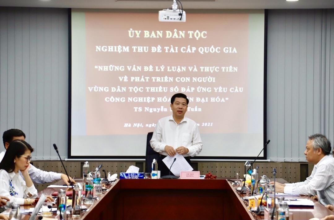 Thứ trưởng, Phó Chủ nhiệm Ủy ban Dân tộc Lê Sơn Hải chủ trì phiên họp
