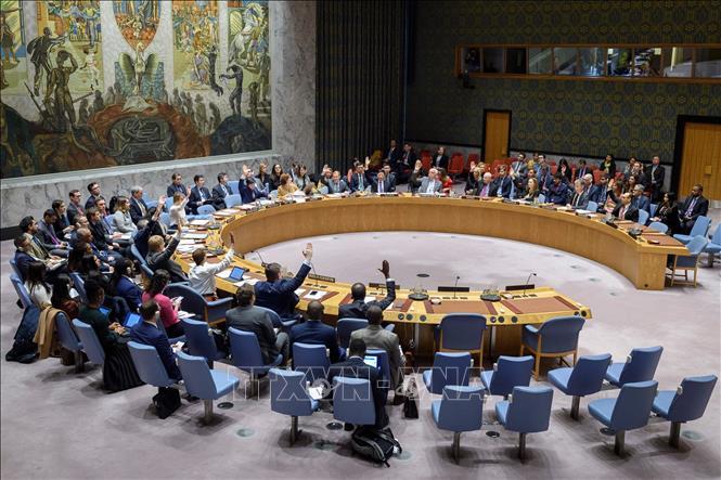 Việt Nam chủ trì phiên họp của Hội đồng Bảo an ngày 13/1/2020. Ảnh TTXVN