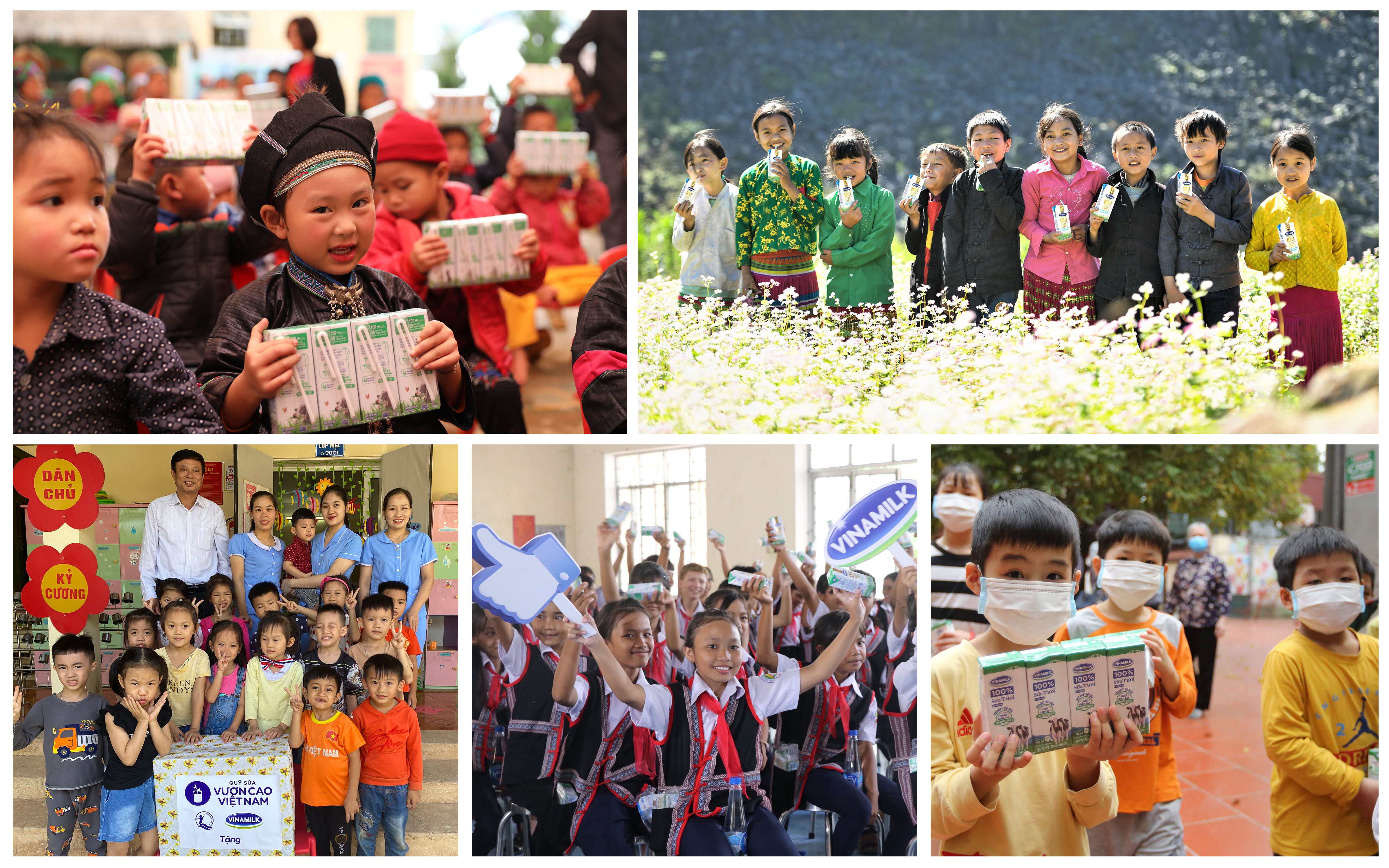 Vượt trở ngại do Covid-19, những chuyến xe yêu thương từ Quỹ sữa Vươn Cao Việt Nam và Vinamilk vẫn đều đặn mang sữa đến cho các trẻ em khắp 27 tỉnh thành trên cả nước