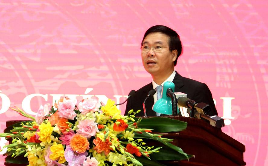 Đồng chí Võ Văn Thưởng, Ủy viên Bộ Chính trị, Thường trực Ban Bí thư phát biểu