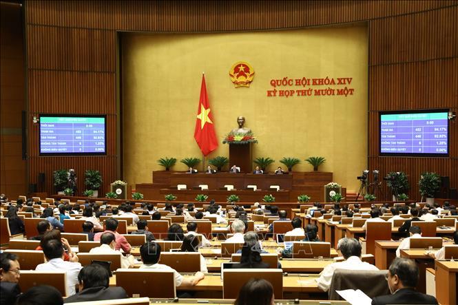 Kết quả biểu quyết thông qua Nghị quyết về việc miễn nhiệm Thủ tướng Chính phủ, ngày 2/4. Ảnh: Văn Điệp/TTXVN