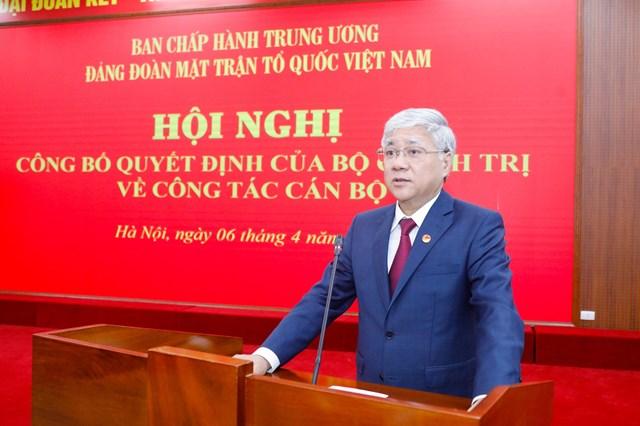 Bí thư Trung ương Đảng, Bộ trưởng, Chủ nhiệm Ủy ban Dân tộc Đỗ Văn Chiến phát biểu tại Hội nghị