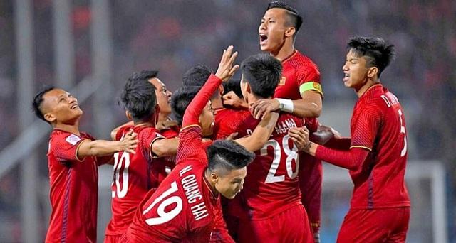 Đội tuyển Việt Nam leo lên vị trí thứ 92 thế giới.