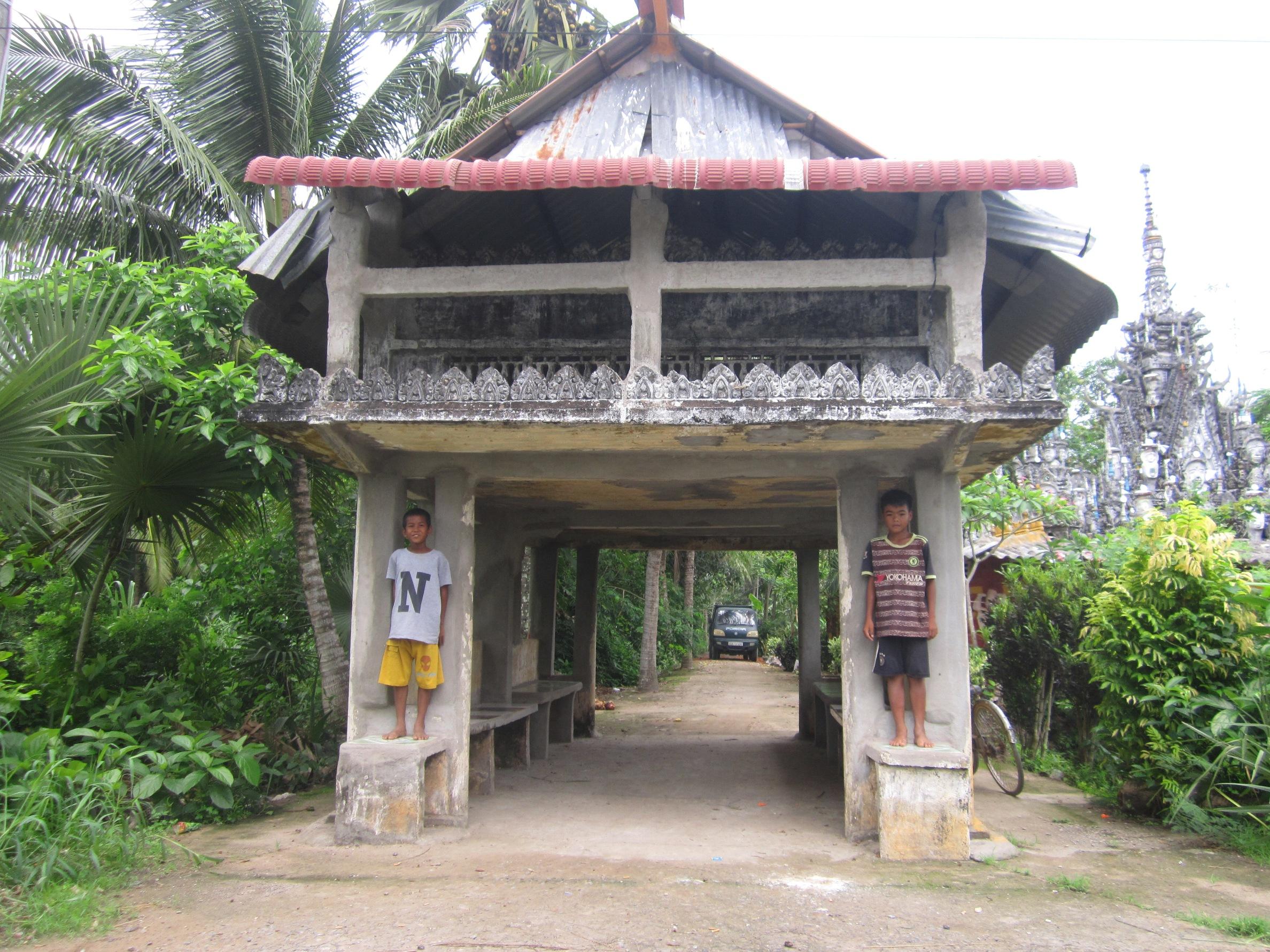 Ngôi Thala ấp Bưng Cốc, xã Phú Mỹ (huyện Mỹ Tú, Sóc Trăng), một nét đẹp văn hóa truyền thống của người Khmer.