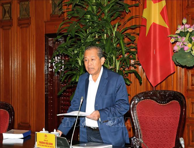 Phó Thủ tướng Thường trực Chính phủ Trương Hoà Bình. Ảnh: Doãn Tấn/TTXVN