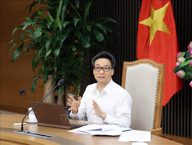 Phó Thủ tướng Chính phủ Vũ Đức Đam, Trưởng Ban Chỉ đạo Quốc gia phòng, chống dịch COVID-19 phát biểu. Ảnh: Phạm Kiên/TTXVN