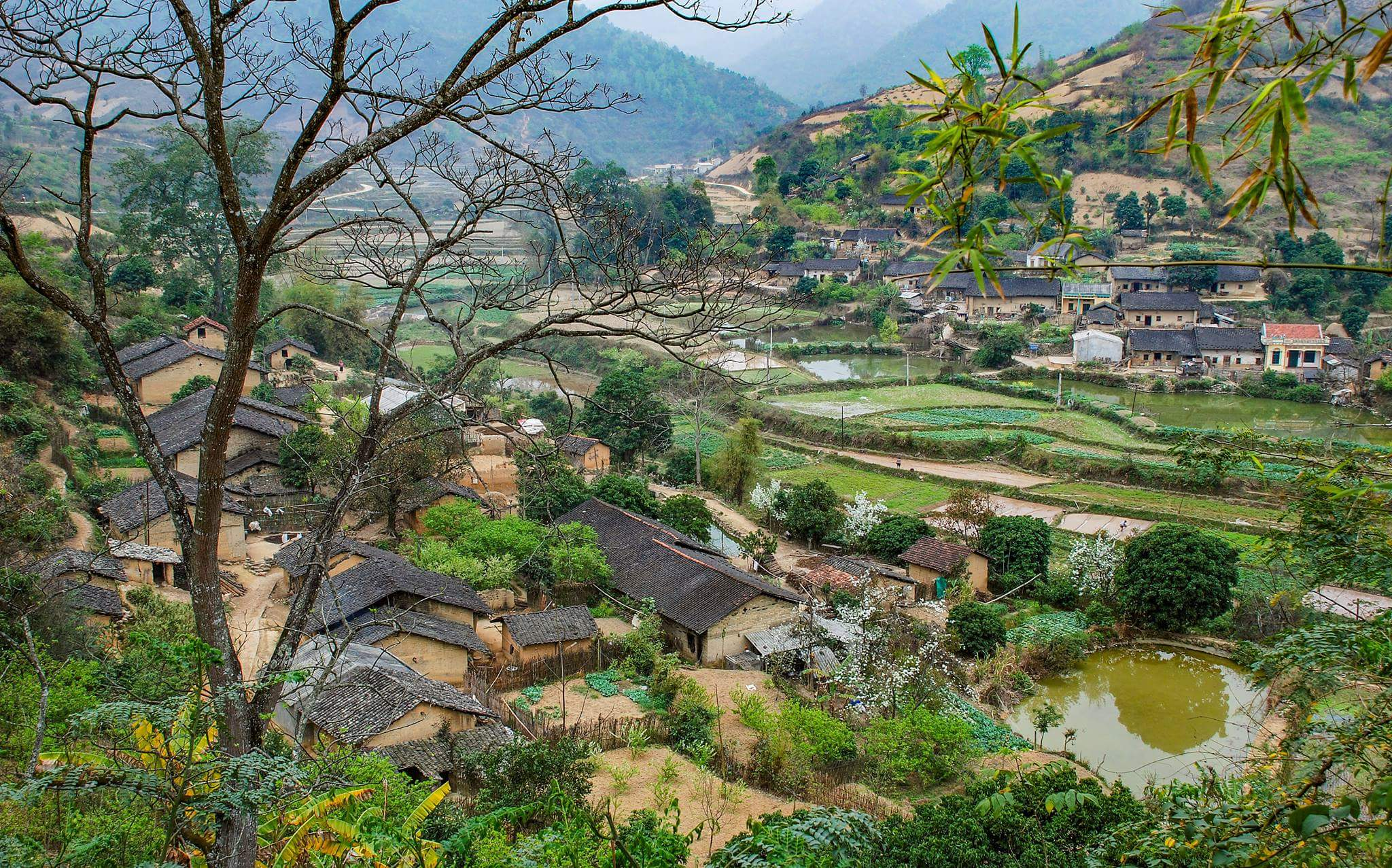 Một góc bản làng ở Hữu Khánh, Cao Lộc, Lạng Sơn. Ảnh: Tư liệu