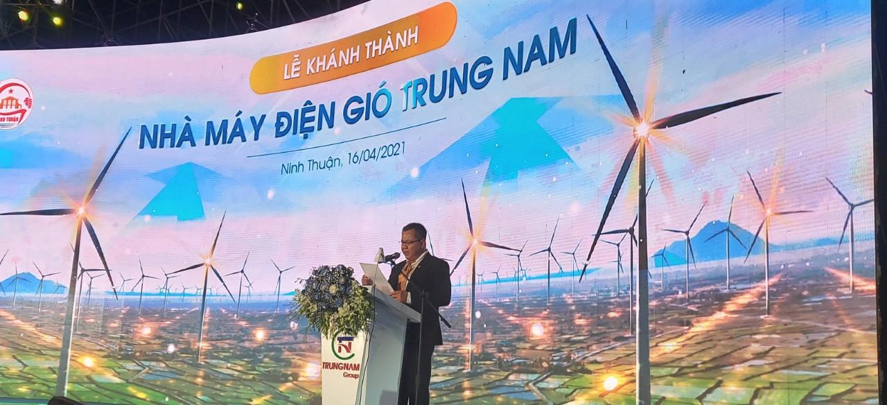 Ông Nguyễn Tâm Tiến, Tổng Giám đốc Trungnam Group phát biểu tại Lễ khánh thành