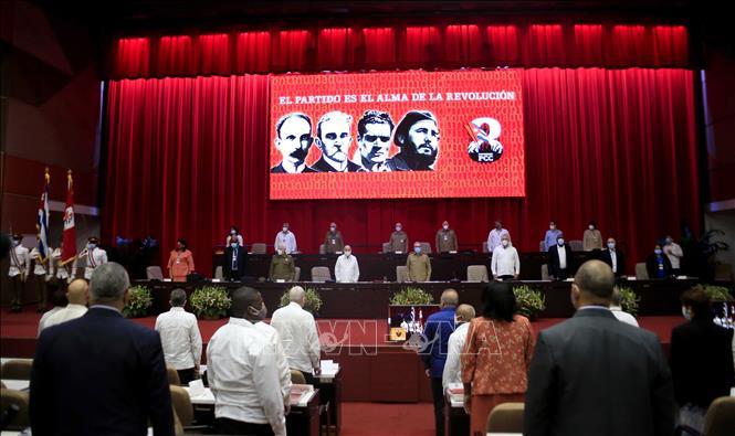 Phiên khai mạc Đại hội lần thứ VIII của Đảng Cộng sản Cuba. Ảnh: ACN/TTXVN