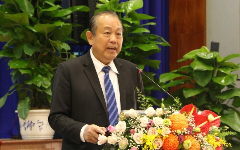 Phó Thủ tướng Thường trực Chính phủ Trương Hòa Bình phát biểu chỉ đạo tại Tọa đàm