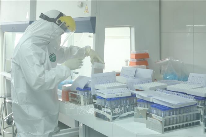 Nơi xét nghiệm sàng lọc virus SARS-CoV-2. Ảnh: TTXVN