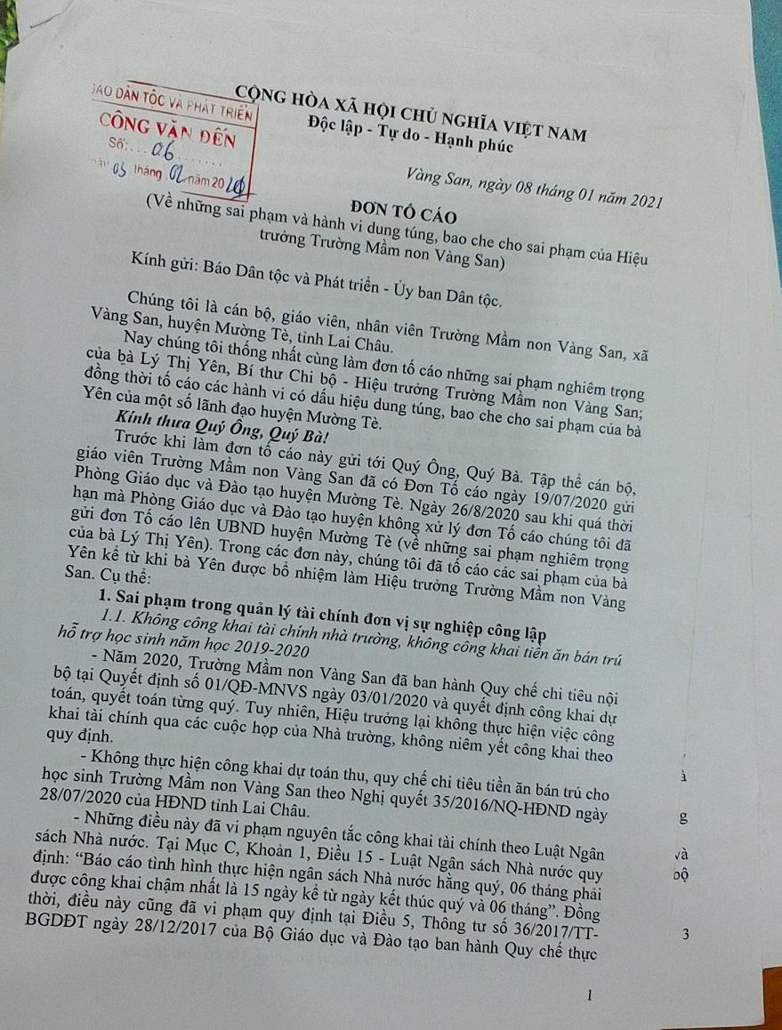 Cán bộ, giáo viên, nhân viên Trường Mầm non tiếp tục gửi đơn tố cáo khi sai phạm của bà Yên chưa được xử lý dứt điểm