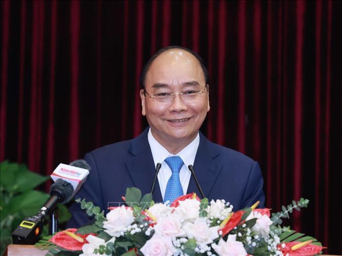 Chủ tịch nước Nguyễn Xuân Phúc được Trung ương giới thiệu về TP. Hồ Chí Minh để ứng cử Đại biểu Quốc hội Khóa XV. Ảnh: Thống Nhất/TTXVN