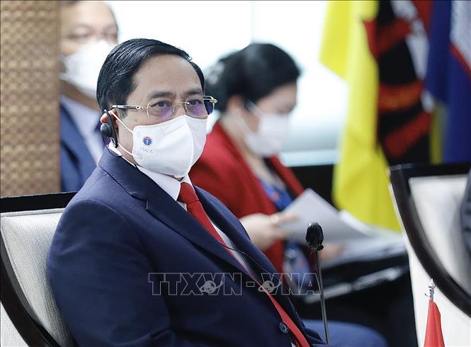 Thủ tướng Phạm Minh Chính dự Hội nghị các Nhà lãnh đạo ASEAN. Ảnh: Dương Giang/TTXVN
