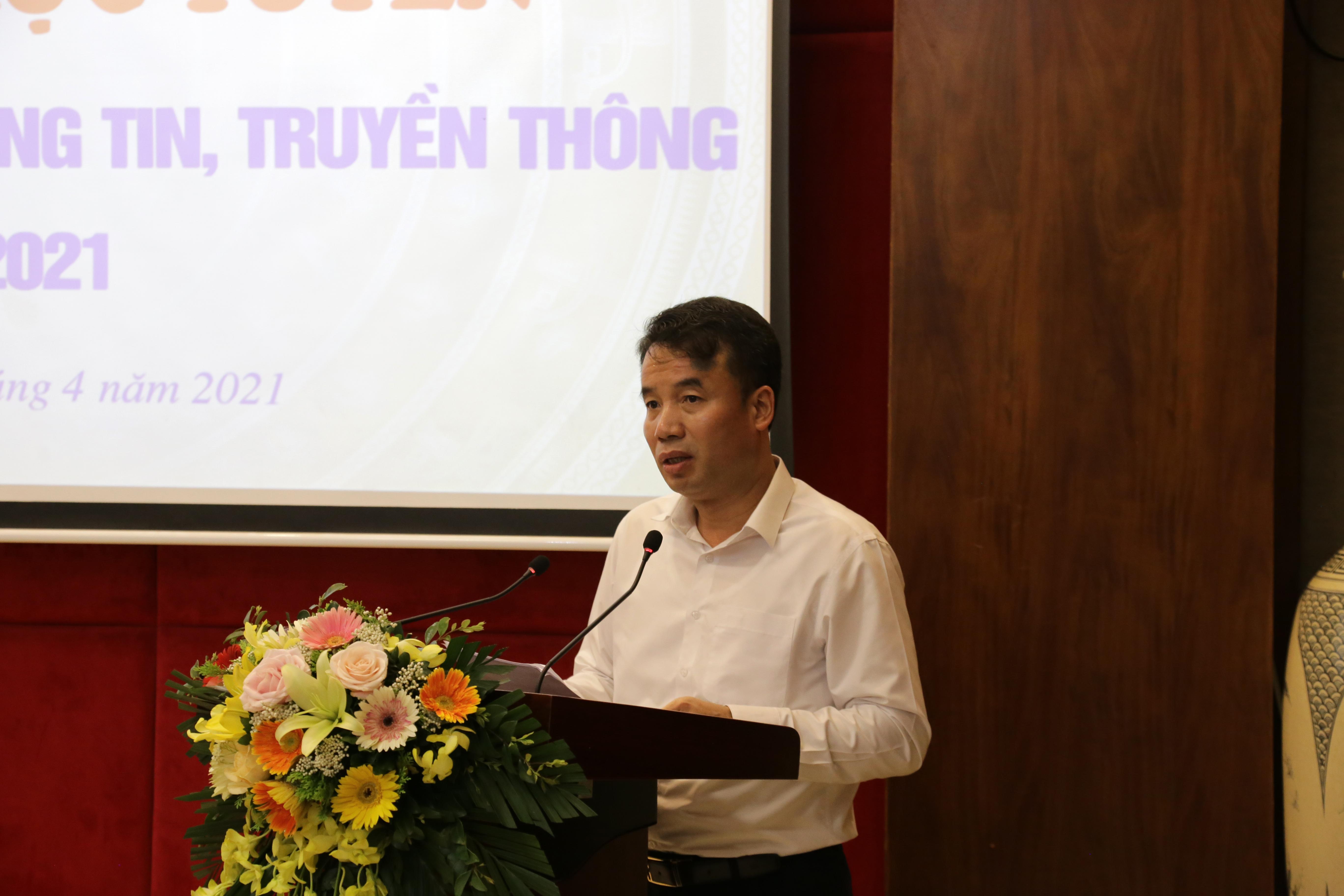 Tổng Giám đốc Bảo hiểm xã hội Việt Nam Nguyễn Thế Mạnh phát biểu tại Hội nghị