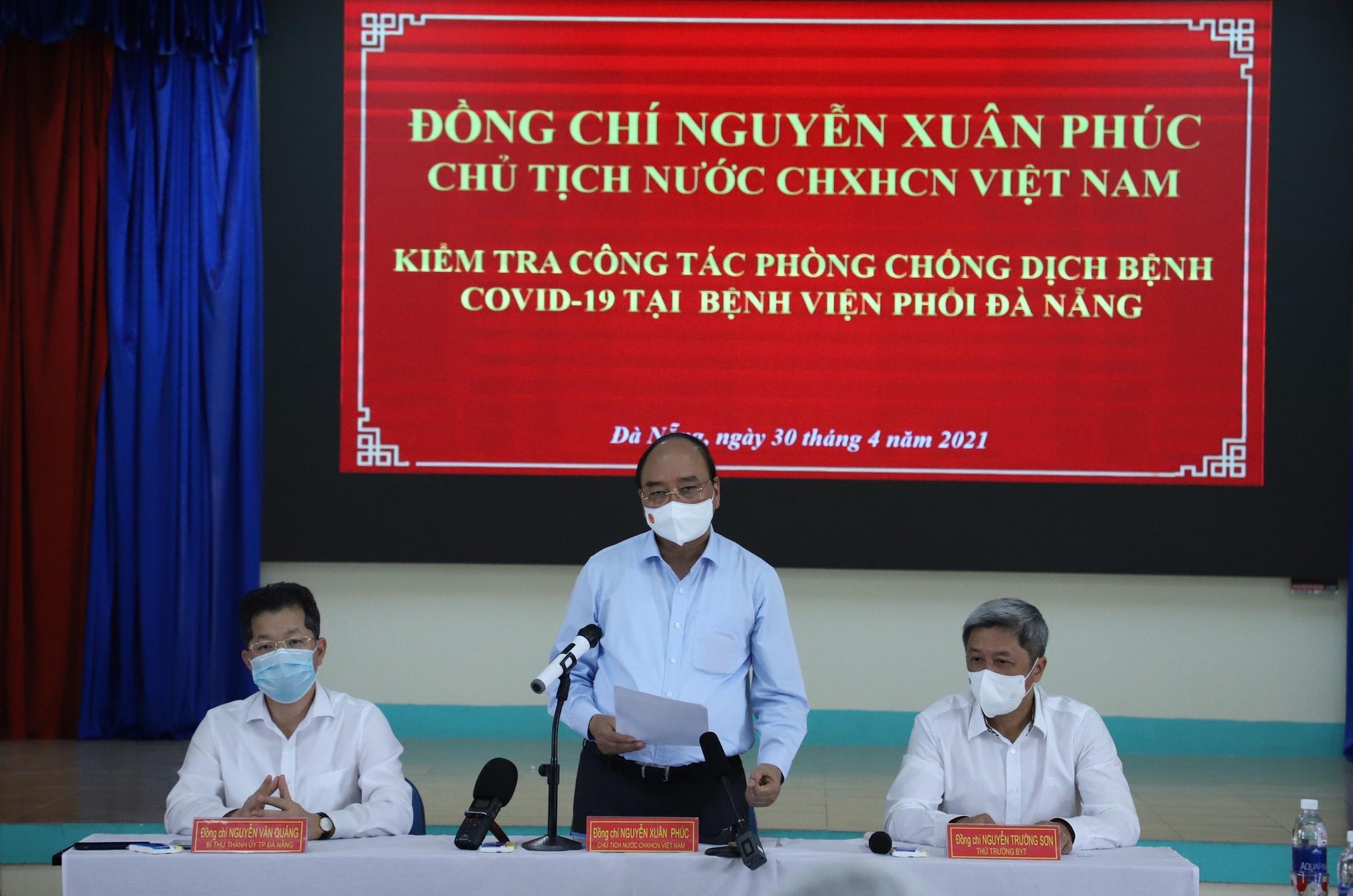 Chủ tịch nước Nguyễn Xuân Phúc phát biểu tại buổi làm việc - Ảnh: VGP/Lưu Hương