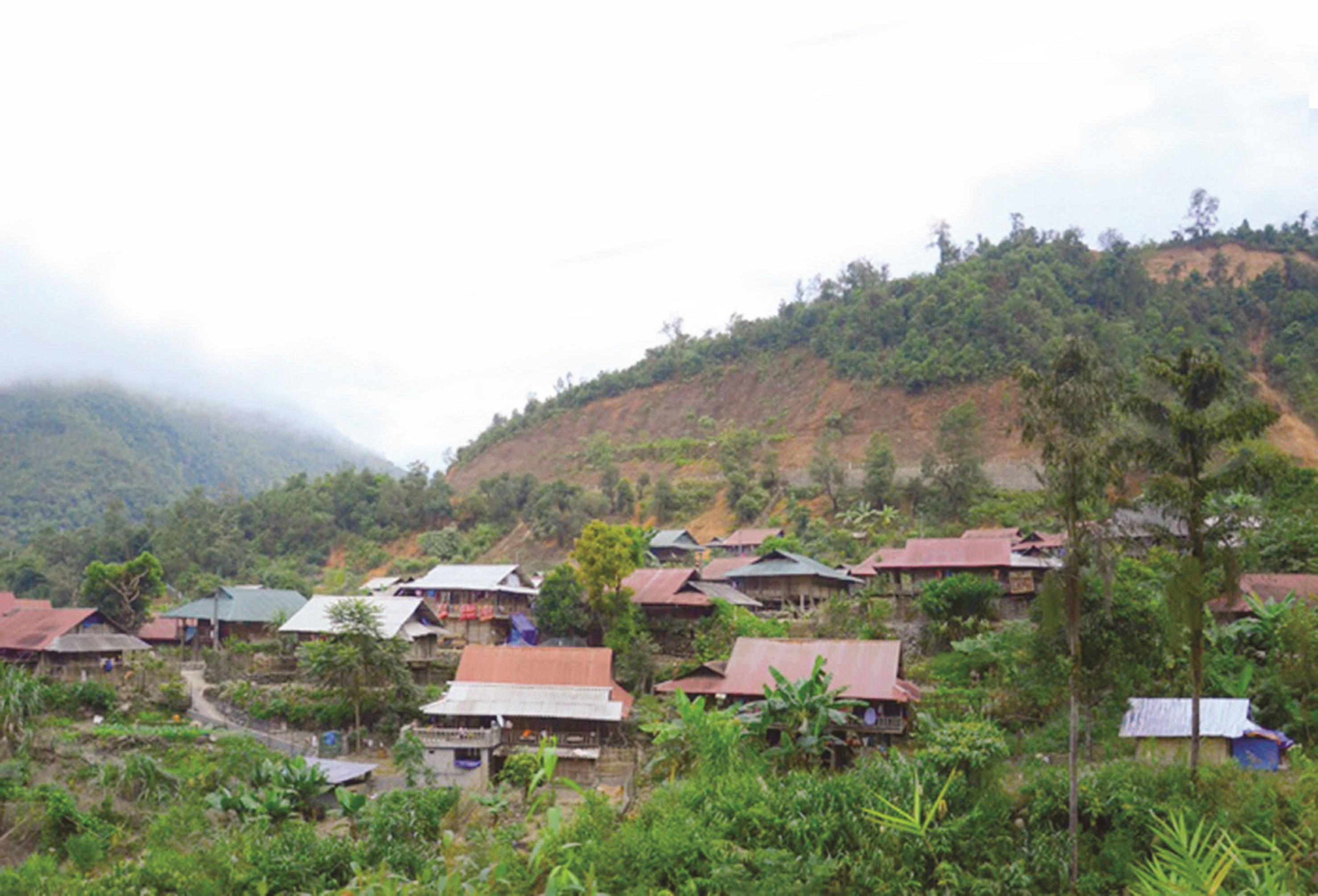 Những bản làng vùng ĐBKK của tỉnh Lai Châu dần đổi mới một phần nhờ nguồn vốn hỗ trợ của CT135. (Ảnh TL)