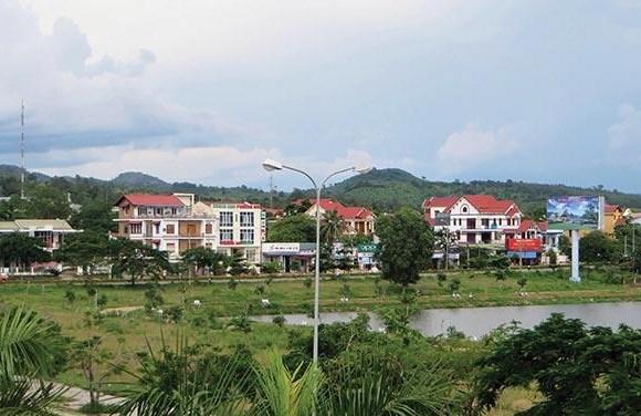 Một góc thị trấn Lao Bảo, huyện Hướng Hóa, tỉnh Quảng Trị.