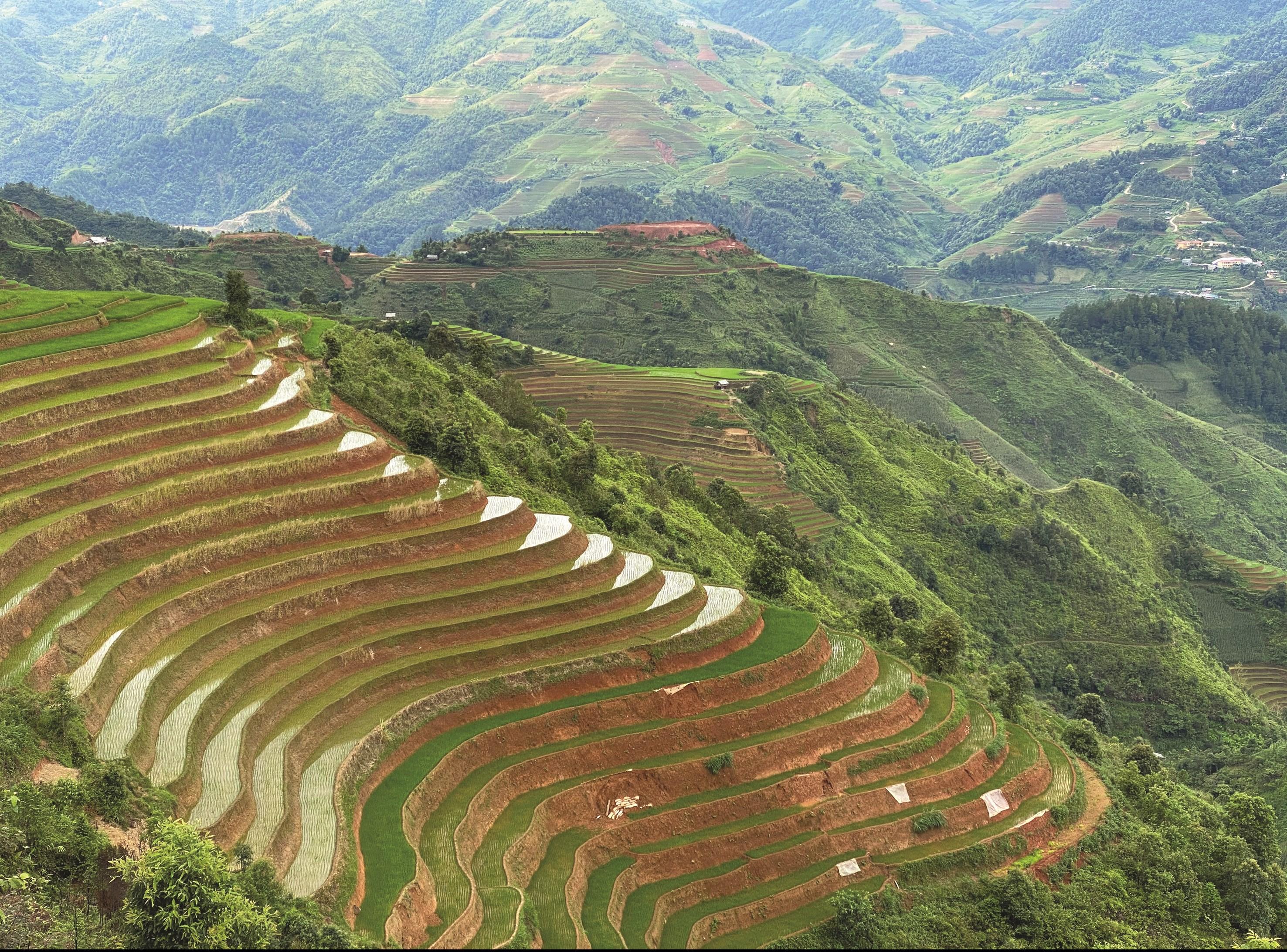 Thiên nhiên vùng cao Hà Giang. (Ảnh: Thanh Huyền)