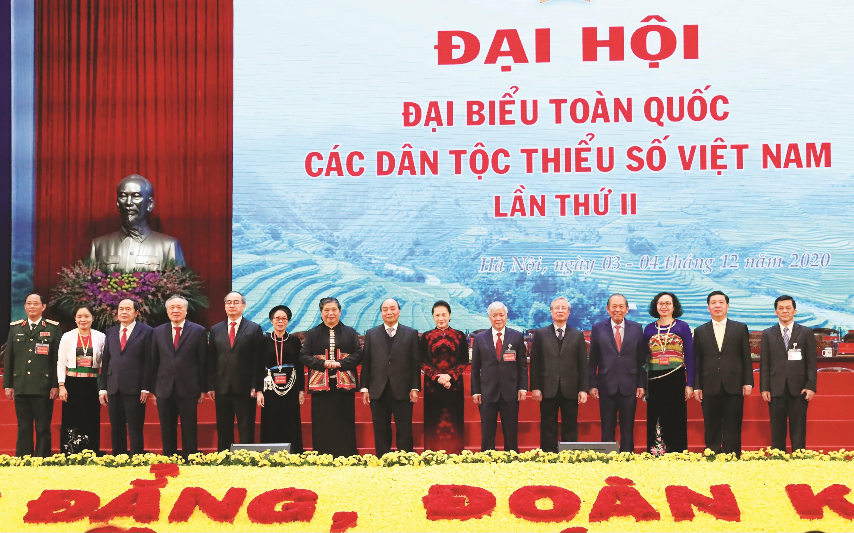 Lãnh đạo Đảng, Nhà nước dự Đại hội đại biểu toàn quốc các dân tộc thiểu số Việt Nam lần thứ II năm 2020.
