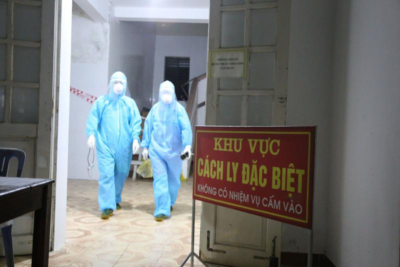 Khu điều trị tại Bệnh viện Đa khoa khu vực Cửa khẩu Quốc tế Cầu Treo, Hà Tĩnh. Ảnh: Sở Y tế Hà Tĩnh