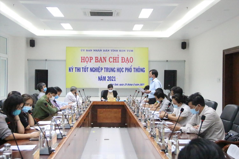 Họp Ban chỉ đạo kì thi tốt nghiệp THPT 2021 tại Kon Tum (Ảnh: BGDTĐ)