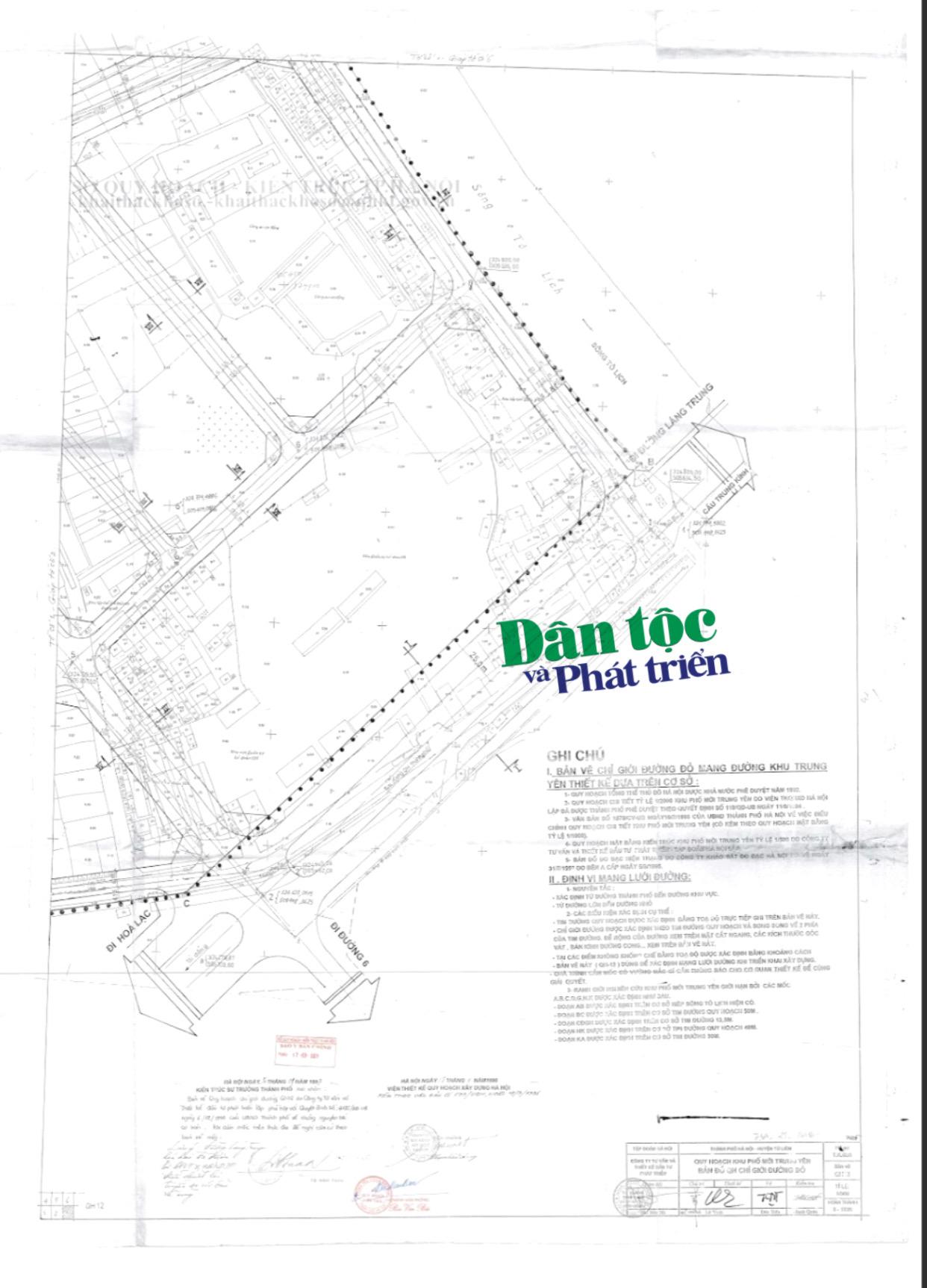 Theo Bản đồ quy hoạch 1/500 thì nhà ông Quý và ông Vệ không thuộc diện thu hồi