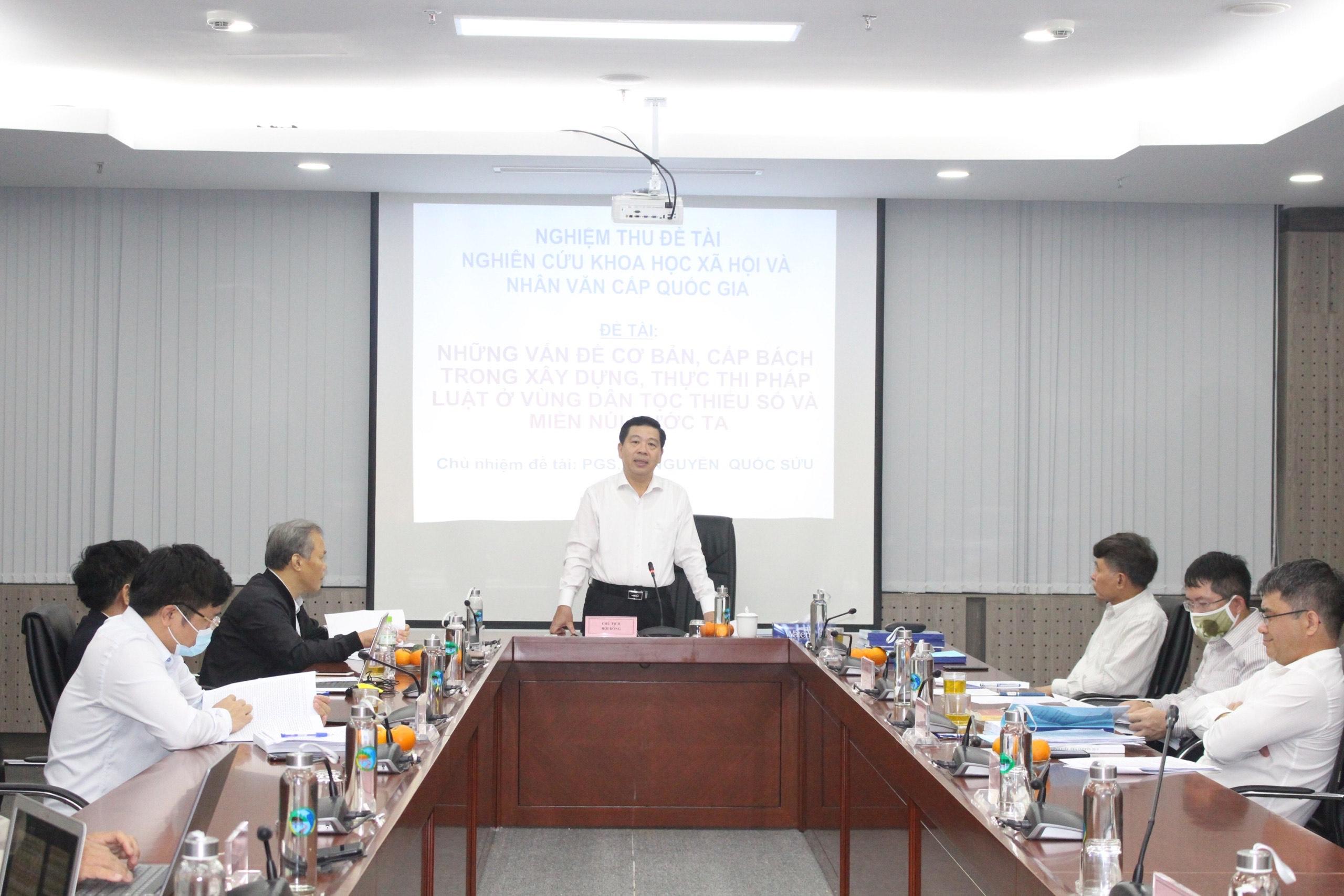 Thứ trưởng, Phó Chủ nhiệm UBDT Lê Sơn Hải chủ trì phiên họp